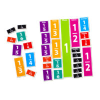 Comparative Fractions Magnet Set