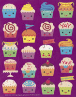 Cupcake-Scented Stickers