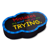 Mistakes-Themed Magnetic Whiteboard Eraser