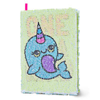 Magic-Sequin Narwhal Journal