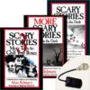 Scary Stories Pack: 3 Books Plus Creepy Skeleton-Hand Book Light
