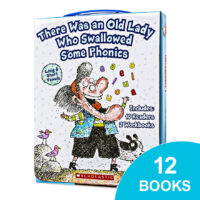 There Was an Old Lady Who Swallowed Some Phonics Box Set