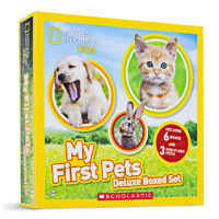National Geographic Kids™ My First Pets Deluxe Box Set with 6 Books and 3 Mini-Plushes