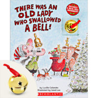 There Was an Old Lady Who Swallowed a Bell! Book and Ornament