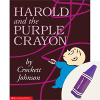 Harold and the Purple Crayon Plus Purple Triangle Crayon