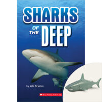 Sharks of the Deep Book Plus Diving Shark Figurine