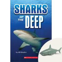 Sharks of the Deep Book Plus Diving Shark Figurine