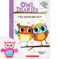 Owl Diaries #4: Eva and the New Owl Plus Rainbow Owl Plush