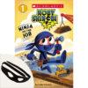 Moby Shinobi Ninja on the Job Book and Superhero Mask Set