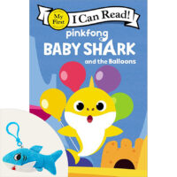 Baby Shark and the Balloons Book Plus Plush Backpack Clip Set