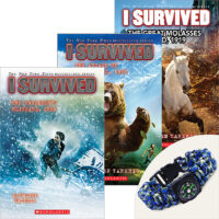 I Survived Books Plus Compass Bracelet