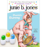 Junie B. Jones®:Dumb Bunny Book and Chick Erasers Set