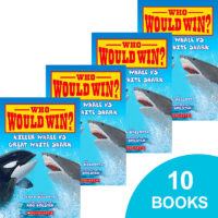 Who Would Win?® Killer Whale vs. Great White Shark 10-Book Pack