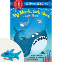 Big Shark, Little Shark, Baby Shark Plus Backpack Clip
