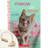 Meow or Never Plus Charm Bookmark