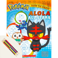 Pokémon™ How to Draw Alola All Stars Plus Color Pencils