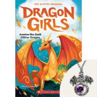 Dragon Girls: Azmina the Gold Glitter Dragon Plus Necklace