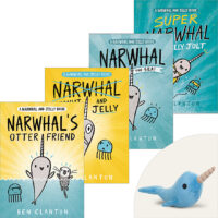 Narwhal and Jelly Plus Narwhal Plush