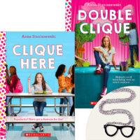 Clique Here Books Plus Geek Glasses Necklace
