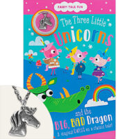 Fairy-Tale Fun: The Three Little Unicorns and the Big, Bad Dragon Plus Necklace