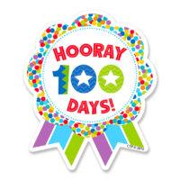 Hooray 100 Days! Sticker Badges (36 ct.)