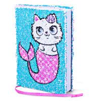 Mermaid Vibes Purrmaid Magic Sequin Journal