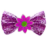 Glitter Flower Bow Barrette