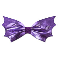 Purple Bat Hair Bow