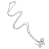 Silver Puppy Necklace