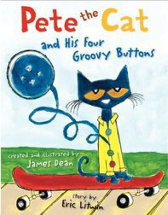 Pete the Cat and His Four Groovy Buttons by Eric Litwin /& James Dean Felt Story