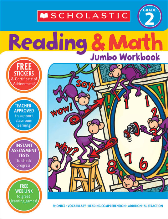Reading And Math Jumbo Workbook Grade 2 By John N. Mangieri;Cathy Collins  Block - Activity Book - The Parent Store
