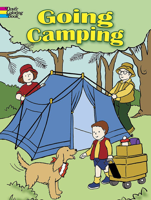 Going Camping Coloring Book By - Activity Book - The Parent Store