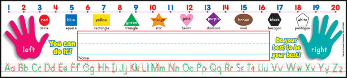 Primary Grades (Standard Manuscript) Super School Tool Name Plates