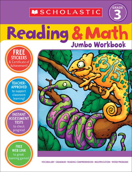 Reading & Math Jumbo Workbook: Grade 3 By John N. Mangieri;Cathy Collins  Block