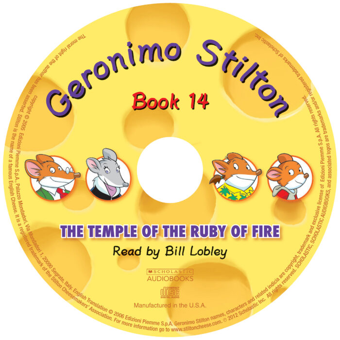 Geronimo Stilton Books #13: The Phantom of the Subway & #14: The Temple of the Ruby of Fire