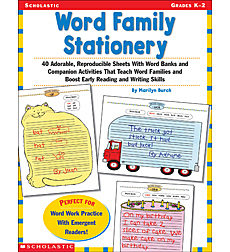Word Family Stationery
