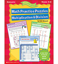 Math Practice Puzzles: Multiplication & Division