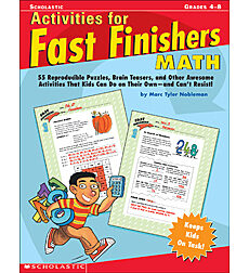 Activities for Fast Finishers: Math