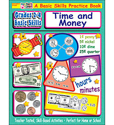 Grades 2-4 Basic Skills: Time and Money