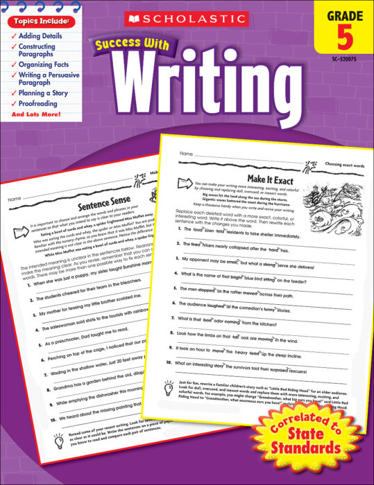 Scholastic Success With Writing: Grade 5 Workbook