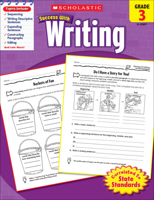 Scholastic Success With Writing: Grade 3 Workbook