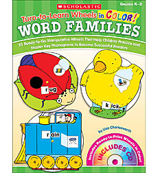 Turn-to-Learn Wheels in Color: Word Families