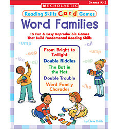 Reading Skills Card Games: Word Families