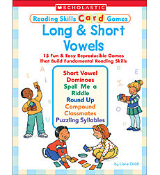 Reading Skills Card Games: Long & Short Vowels