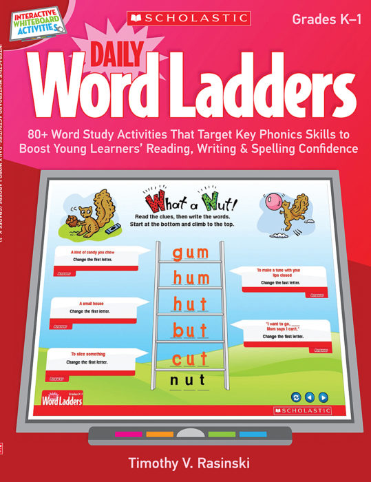 Interactive Whiteboard Activities: Daily Word Ladders Grades K-1