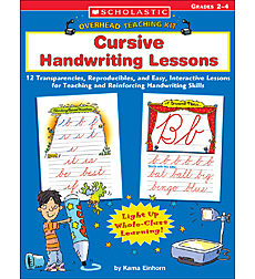 Overhead Teaching Kit: Cursive Handwriting Lessons