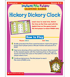 Instant File-Folder Learning Games: Hickory Dickory Clock
