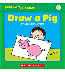 First Little Readers: Draw A Pig (Level C)