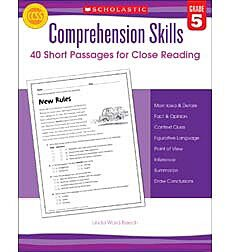 Comprehension Skills: 40 Short Passages for Close Reading: Grade 5