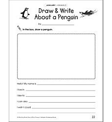 Draw & Write About a Penguin: Draw and Write Prompt